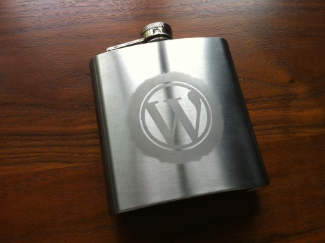 Yes, that's a WordPress flask care of @janeforshort