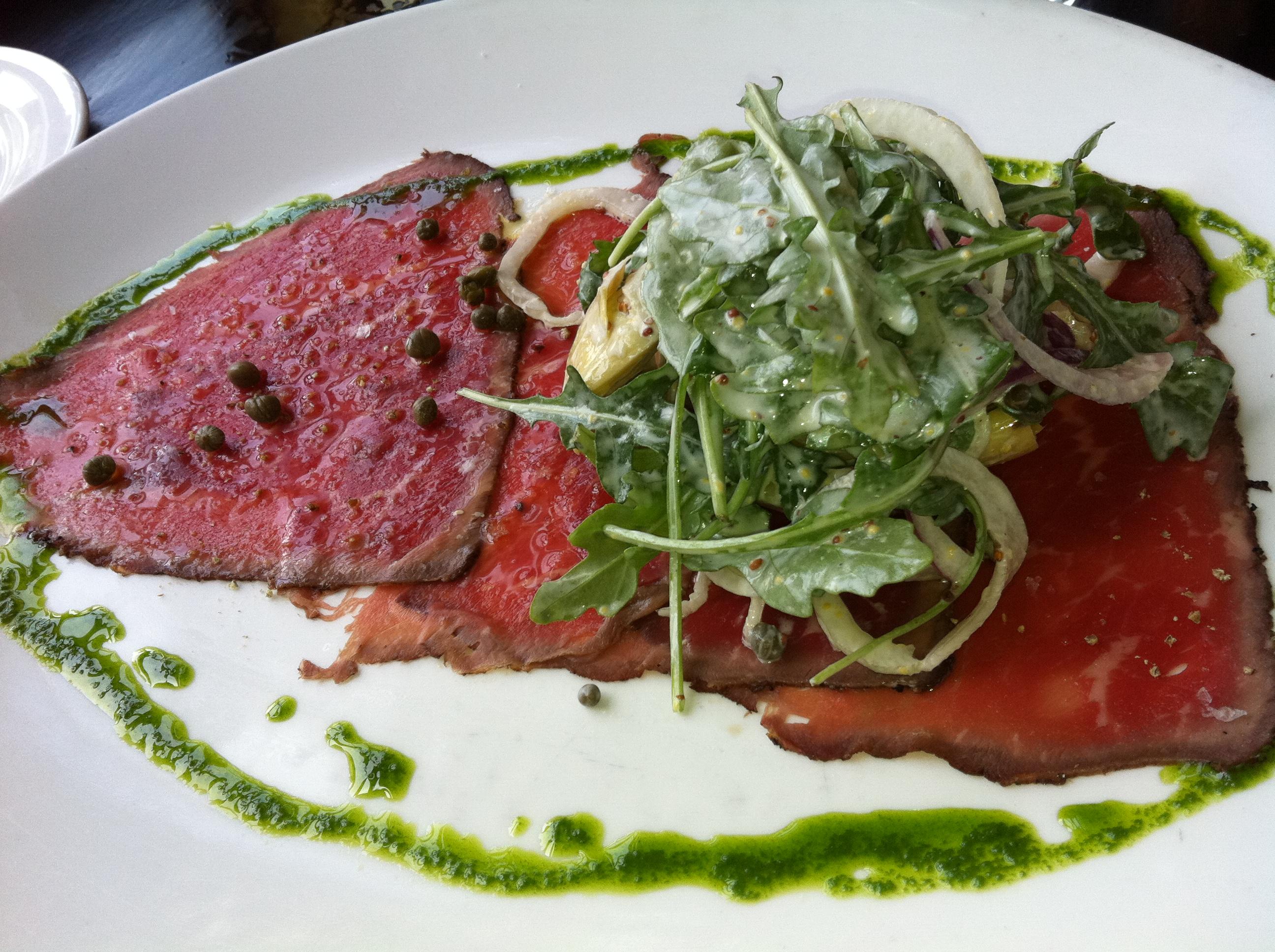 Beef carpaccio | Matt on Not-WordPress