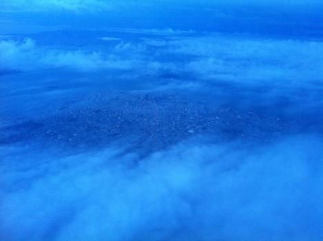 San Francisco through the clouds