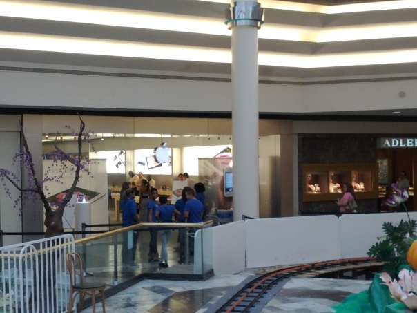 Line at Apple Store
