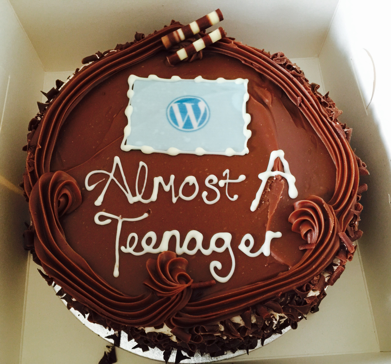 WordPress 12th Birthday Cake